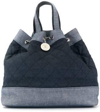Chanel Pre-Owned diamond quilted denim backpack