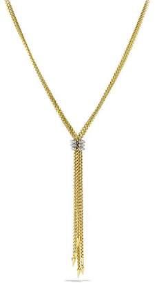 David Yurman Willow Tassel Necklace with Diamonds in Gold