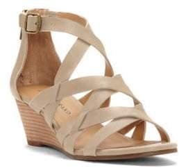 Lucky Brand Jewelia Leather Demi-Wedge Sandals