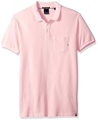 Scotch & Soda Men's AMS Blauw Garment Dyed Polo with XXX Pocket