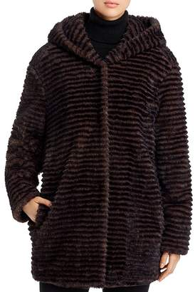 Capote Faux-Fur Hooded Jacket