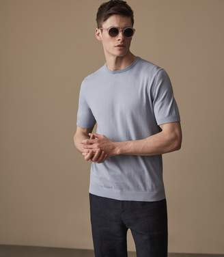 Reiss CARLTON Knitted crew neck top Cornflowerblue