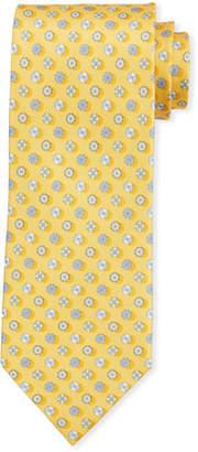 Salvatore Ferragamo Circular Silk Tie, Yellow