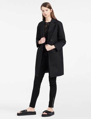 Calvin Klein sculpted cotton nylon trench