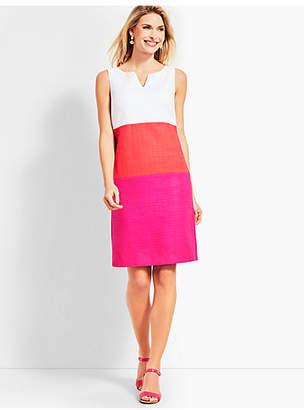 Talbots Textured Colorblock Sheath Dress
