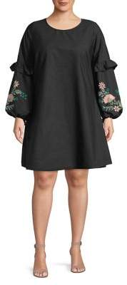 Junarose Plus Cheryl Long-Sleeve Dress