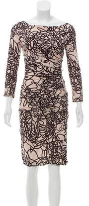 Versace Gathered Silk Dress