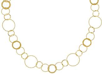 14K Gold Multi Circle Necklace, 6.6g
