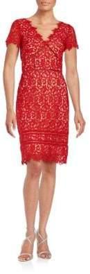 NUE by Shani Lace Cutout Sheath Dress