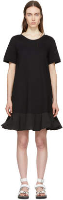 Moncler Black Short T-Shirt Dress