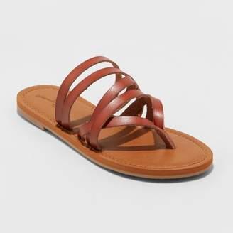 Universal Thread Women's Maritza Multi Strap Toe Slide Sandal
