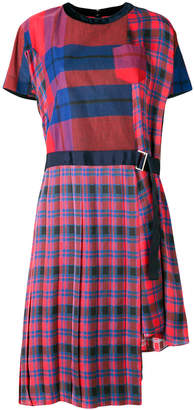 Sacai plaid dress