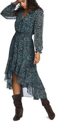 1 STATE 1.STATE Snake-Print High/Low Maxi Dress