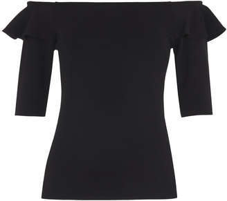 Whistles Frill Shoulder Bardot Top