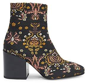Dries Van Noten Women's Jacquard Block Heel Booties