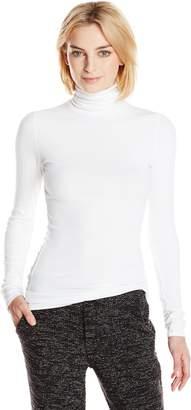 Michael Stars Women's 2X1 Rib Long Sleeve Turtleneck