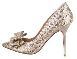 Lucy Choi Glitter Pointed-Toe Pumps