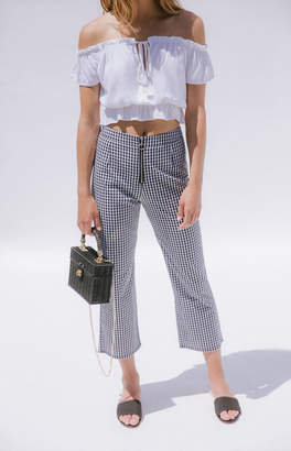 La Hearts Zip Front Pants