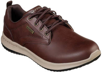 Skechers Delson Mens Oxford Shoes Lace-up Round Toe