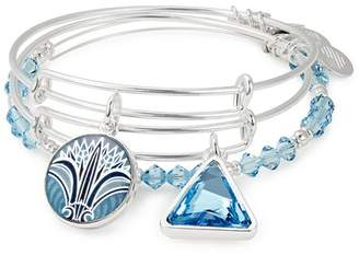 Alex and Ani Blue Lotus Expandable Bracelets