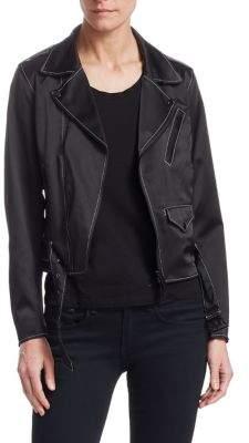 Noir Kei Ninomiya Silk Satin Moto Jacket