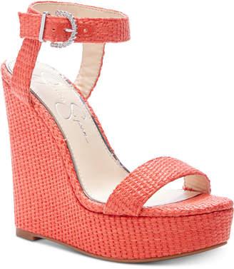 Jessica Simpson Taery Platform Wedge Sandals Women Shoes