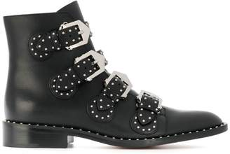 Givenchy studded buckled boots