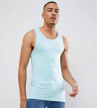 Asos DESIGN Tall muscle fit tank in green