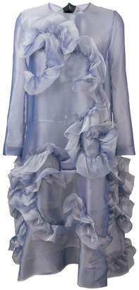 Roberts Wood frilled sheer dress