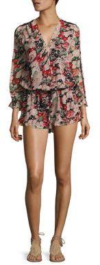 Joie Ellar Silk Floral-Print Romper $388 thestylecure.com