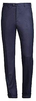 Brioni Men's Solid Pleat Wool & Cashmere Trousers