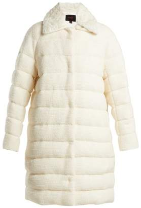 Giambattista Valli - Detachable Collar Bouclé Coat - Womens - White