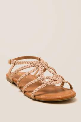 Report Gibbie Braided Gladiator Sandal - Nude