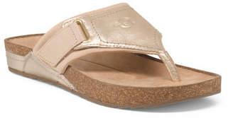 Buckle Comfort Footbed Slide Sandals