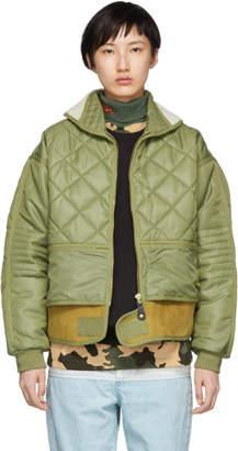 032c Green Cosmo Bomber Jacket