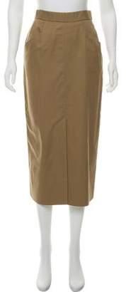 Aquascutum London Woven Midi Skirt