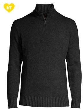 Black & Brown Black Brown Quarter-Zip Lambswool Sweater