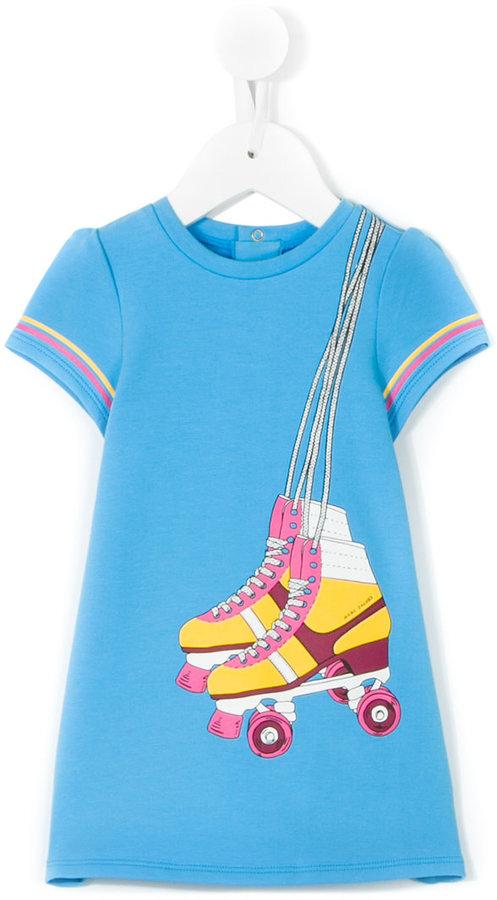 Little Marc JacobsLittle Marc Jacobs skates print T-shirt