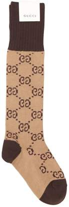 Gucci Gg Cotton Knee High Socks