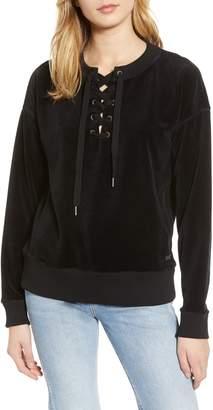 Roxy Lucky Sunshine Lace-Up Sweatshirt