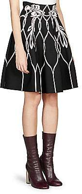 Alexander McQueen Women's Floral A-Line Skirt