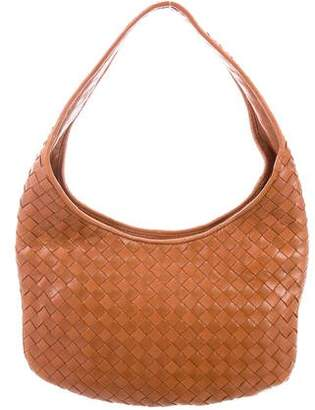 Bottega Veneta Mini Intrecciato Leather Hobo
