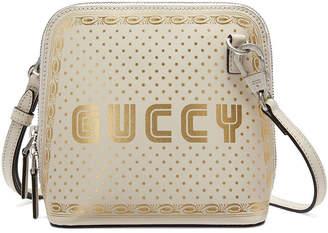 Gucci Guccy Top Zip Shoulder Bag Mini White/Gold