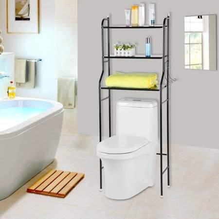 Toilet Shelf,Fosa 3-Tier Iron Toilet Towel Storage Rack Holder Over Bathroom Shelf Organizer , Bathroom Shelf, Toilet Storage Shelf