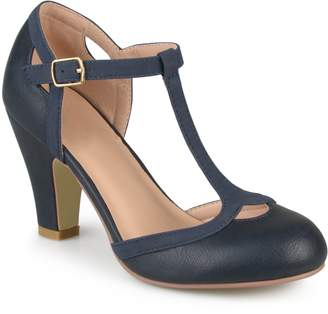 Journee Collection Womens T-Strap Round Toe Mary Jane Pumps , 6.5 Regular US
