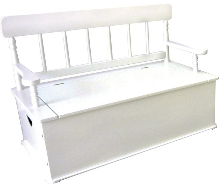 Levels of Discovery Simply Classic White Bench Seat with Storage