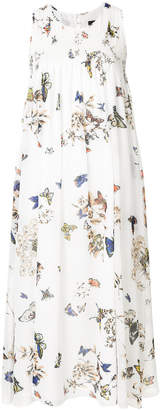 Steffen Schraut butterfly print midi dress