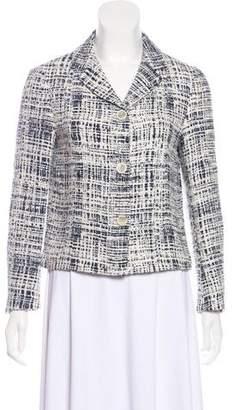 Prada Notch-Lapel Tweed Blazer