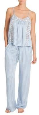 In Bloom Two-Piece Seashore Stripe Pajama Set