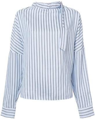 Tibi striped blouse
